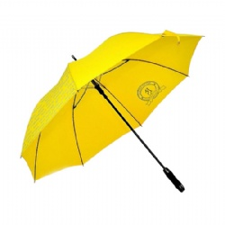 Yellow  Promotional Printed Golf Umbrella