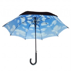 23'' double layer staright umbrella with full color printing