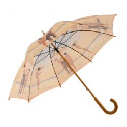Traditional walking umbrella with crook handle