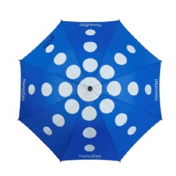Walking straight umbrella with silk screen printing